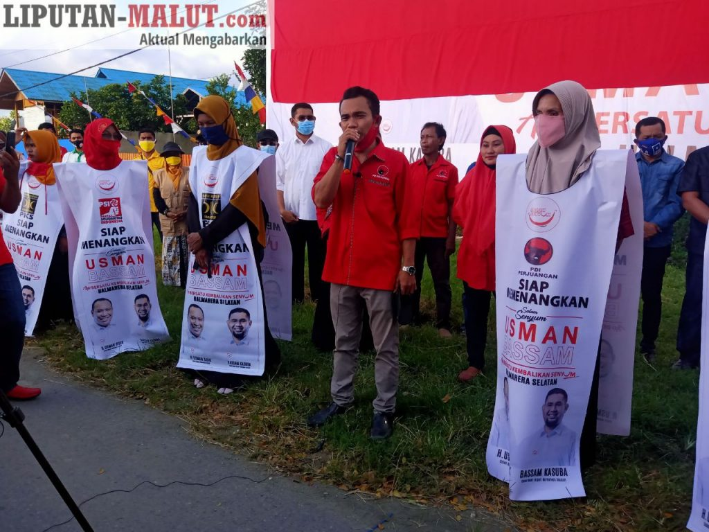 Ketua Bapilu DPC PDIP Halsel, Jamra Hi Zakaria (Foto Redaksi Liputan Malut)